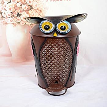 Mnii Creative Iron Crafts Handmade Cute Animals Fingers Trash Houses Household Villas Toilet Ashtrays Fruit Bags , Owl- Quality Assurance 0