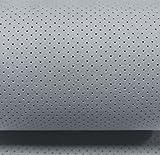 Automobil Amaretta perforiert mit Unterware in Grau 150cm Breit Meterware / Alcantara Microfaser