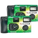 Fujifilm Quicksnap Flash 400 Single-Use Camera With Flash (2 Pack)