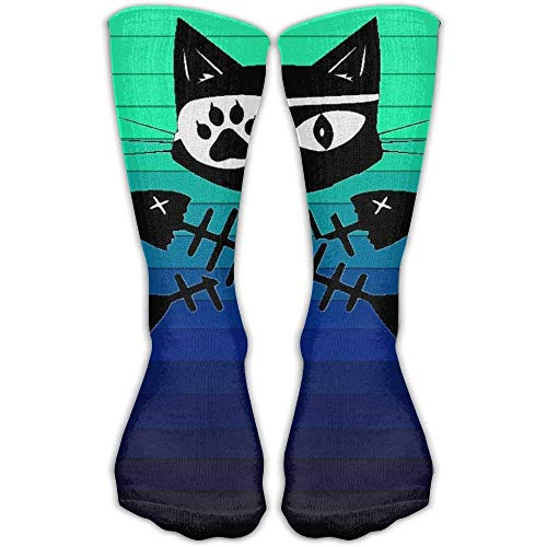 HRTSHRTE Design Cat Pirate Vintage Art Socks Boots Sock for Women &Girl 60cm