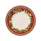 Villeroy & Boch Winter Bakery Delight 1486122621 Plato Llano, Porcelana, Rojo, 26.2x26.2x5.5 cm