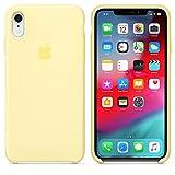 AIWE Coque iPhone XR iPhoneXS iPhoneXS Max Coque Silicone Liquide Anti-Rayure avec Protecteur d'écran Gratuit, Housse Protection Silicone Anti-Choc Gel Case pour iPhone XR/XS (iPhone XR, Jaune pâle)