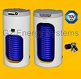 100 Liter L indirekt beheizter Warmwasserspeicher mit 1 Wärmetauscher, Anschlüsse oben, Boiler Standspeicher