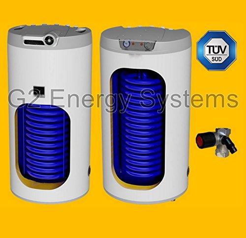 Preisvergleich Produktbild 160 Liter L indirekt beheizter Warmwasserspeicher mit 1 Wärmetauscher, Anschlüsse oben, Boiler Standspeicher