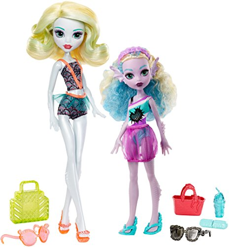 Monster High FCV82 Geschwister Puppe-Set Lagoona (Monster Lagoona High)