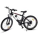 cooshional Bicicletta eletrica Mountain Bike diametro ruota: 26 inch velocità 250W/21 lega di alluminio nero