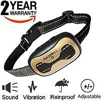 [Gesponsert]Anti-Bell-Halsbänder - Hunde trainingshalsband für kleine und mittelgroße Hunde mit Vibration. Kontrolle von übermäßigem Bellen mit diesem einfachen Antibell Halsband. Sicher und human ohne Schock