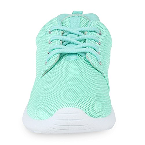 Damen Sportschuhe | Übergrößen | Trendfarben Runners | Sneakers Laufschuhe | Fitness Prints Hellgrün