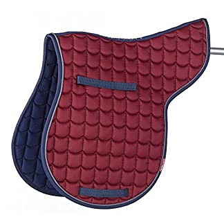 Cottage Craft Unisex's Went More Quilted Numnah-Burgundy, Cob 7