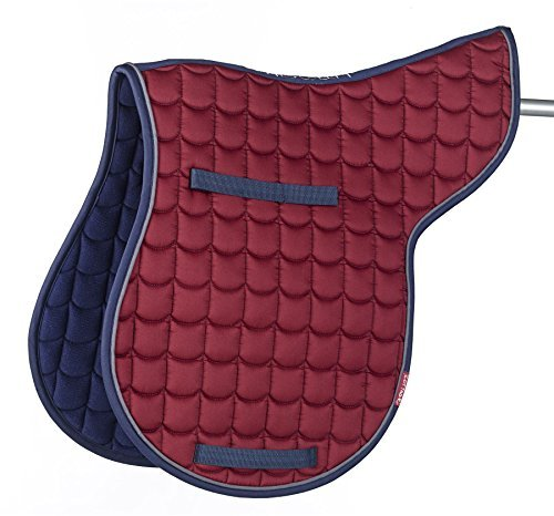 Cottage Craft Unisex's Went More Quilted Numnah-Burgundy, Cob 1