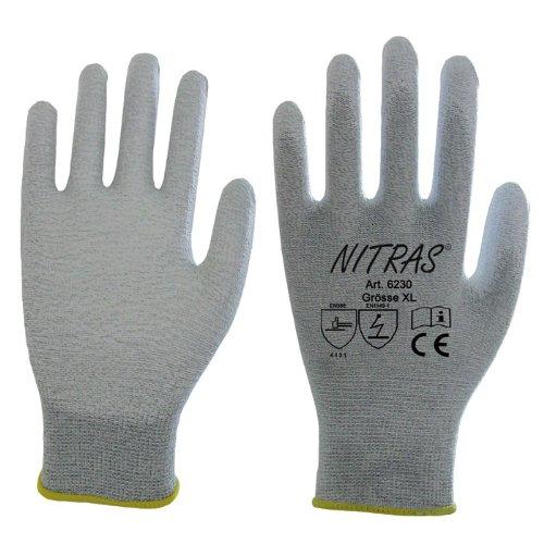Nitras 6230 ESD-Handschuhe - antistatisch und Touchscreen-fähig, Größe:Größe 10 (XL)