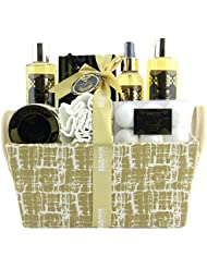 BRUBAKER Cosmetics Bade- und Dusch Set Vanille Minze Duft - 14-teiliges Geschenkset in Henkelbox