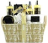 BRUBAKER Cosmetics Bade- und Dusch Set Vanille Rosen Minze Duft - 14-teiliges Geschenkset in Henkelbox