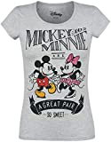 Micky Maus Mickey & Minnie Mouse - A Great Pair T-Shirt grau meliert S
