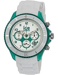 ICE-Watch - Montre Mixte - Quartz Analogique - Ice-Chrono Party - Mojito - Big Big - Cadran Blanc - Bracelet Silicone Blanc - CH.WEM.BB.S.13