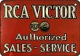 metal Signs RCA Victor Service- und Vintage Look Reproduktion Metall blechschild 20,3x 30,5cm