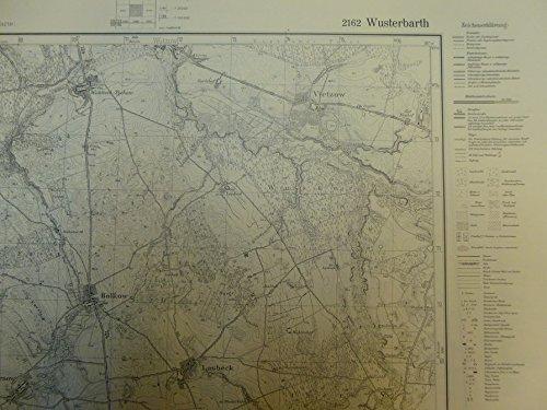 Preisvergleich Produktbild Meßtischblatt Nr. 2162 - Wusterbarth - Topographische Karte 1 : 25 000 ( 4 cm-Karte )