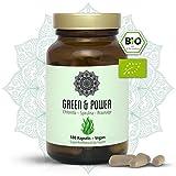 BIO Kelp Spirulina Chlorella Kapseln I Vegan I 180 Stück I Green & Power - Superfood Algen Mix Für Dein Immunsystem I Mit Acerola I Hochdosiert