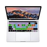 XSKN Logic Pro X Inglés atajos de silicona teclado piel Protector de pantalla para Multi Touch–Barra de...