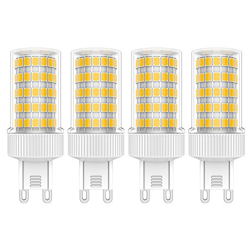 4X G9 LED Lampadina 10W Faretti LED Bianco Caldo 3000K LED Lampadine 86 SMD 2835LEDs Super Luminosa 800LM LED Luci AC220-240V