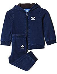 adidas Baby Jungen (0-24 Monate) Sweatanzug blau blau