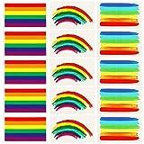 Vamei 24pcs Gay Pride Regenbogen Aufkleber Tätowierungs Körper Farben Tätowierungs Satz der Tätowierungs 3 für Gay Pride Feiern (B)