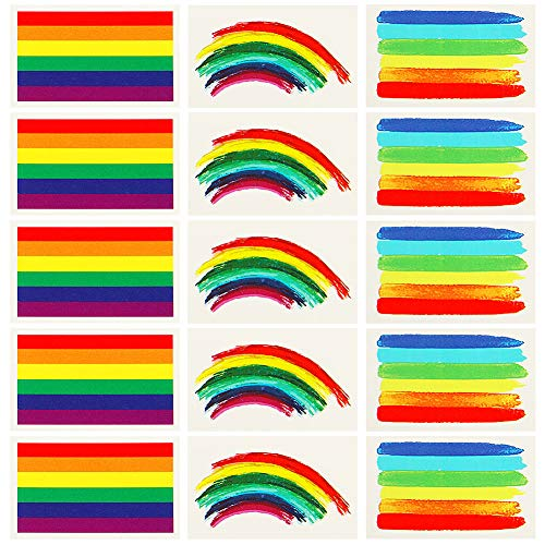 Vamei 24pcs tatuaggi temporanei gay pride lgbt accessori stickers rainbow flag bandiera lgbt body tattoo