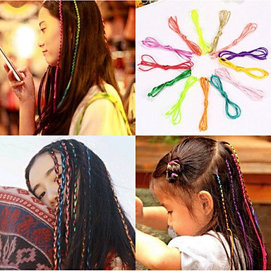 gzhuang 10PCS und Verteilen Artefakt Gericht Band Seil Weben Braid Haar Seil Seil Farbe zufällige
