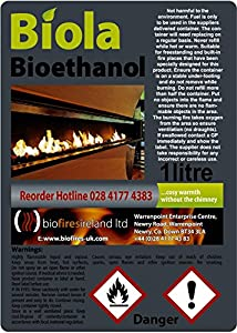 24L PREMIUM BIOETHANOL FUEL FREE DELIVERY UK & IRELAND. Smoke-Free, Odour-Free Bioethanol Fuel for use in fires & stoves.