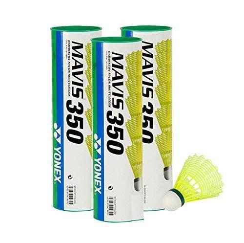 Yonex Mavis 350 Badmintonball gelb 3X6=18 Stück Nylonshuttle Farbe: green/slow