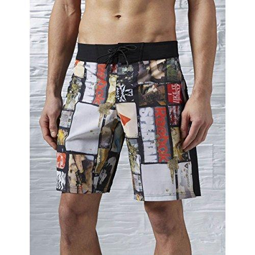 Reebok–Pantaloncini Spartan Fan madre nero