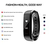 Fitness Tracker HR, Letscom Fitness Tracker Watch with Heart Rate Monitor, Slim Touch Screen and Wristbands, Wearable Waterproof Activity Tracker Pedometer for Android and iOS