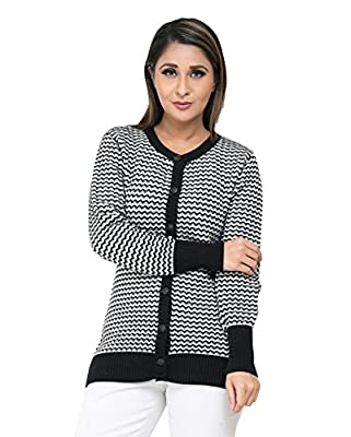 Perroni Women's Cardigan/ Sweater For Winter, L Size (Large, Black)
