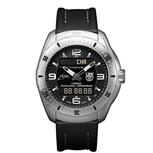 Luminox-XCOR-Aerospace-Pilot-Professional-Analog-Digital-Mens-Quartz-watch-with-Black-dial-featuring-LLT-Luminox-light-Technology-46-millimeters-Titanium-case-and-Black-Leather-Strap-XX5241XS