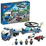 LEGO- Police Trasportatore di Elicotteri della Polizia City Costruzioni per Bambini +5 Anni, Idea Regalo per Tutti Gli Appassionati, 60244