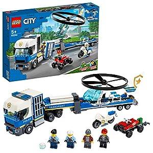 LEGO Police Trasportatore di Elicotteri della Polizia, Costruzioni per Bambini +5 Anni, Idea Regalo per Tutti gli… 5702016617788 LEGO