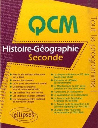 QCM Histoire-Géographie, seconde par Jean-Louis Deneufchâtel