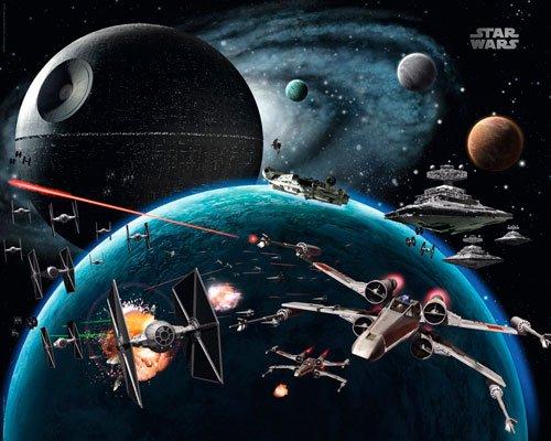 Poster Star War - vehicles space - Größe 40 x 50 cm - Miniposter