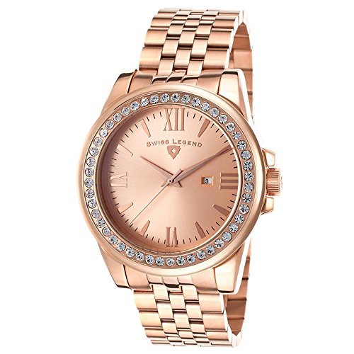 Swiss Legend Allure 10551-RG-99 42mm Rose Gold Steel Bracelet & Case Synthetic Sapphire Women's Watch