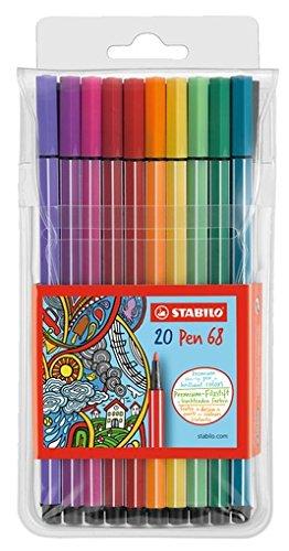 Preisvergleich Produktbild Stabilo Premium Filzstift Pen 68 (mit 20 verschiedenen Farben) 20er Pack