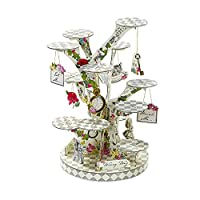 Talking Tables Alice in Wonderland Cupcake Stand Centrepiece Mad Hatter Tea Party, Paper, Mixed Colours, Height 59cm, 23""