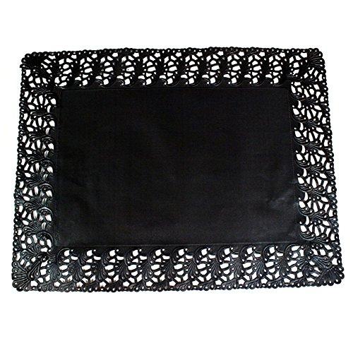 Garcia de Pou 250Einheit rechteckig Deckchen, 32x 26cm, Papier, schwarz, 32x 26x 30cm (Deckchen Schwarz Papier)