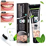 Blanchiment des dents , charbon dent , dentifrice au charbon, Teeth Whitening Toothpaste, charbon actif dent dentifrice, charbon de coco, Teeth Whitening Dentifrice, charbon actif coco Dentifrice , Dentifrice de blanchiment des dents au charbon actif , pour une meilleure santé buccale/une haleine plus fraiche - Saveur de menthe 4.2OZ