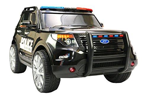 """Kinderfahrzeug - Elektro Auto \""""US Police SUV\"""" - 12V7AH Akku,2 Motoren- 2,4Ghz Fernsteuerung, MP3, Sirene und Megaphone"""