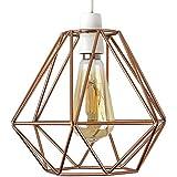 Retro, schöner und kuperfarbiger Lampenschirm in Korbform aus Metall – für Hänge- und Pendelleuchte