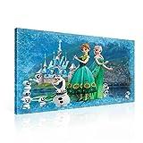 Disney Frozen Elsa Anna Olaf Leinwand Bilder (PPD2280O1FW) - Wallsticker Warehouse - Size O1 - 100cm x 75cm - 230g/m2 Canvas - 1 Piece