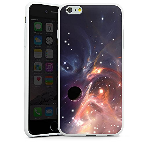 Apple iPhone X Silikon Hülle Case Schutzhülle Outerspace Galaxy Muster Silikon Case weiß