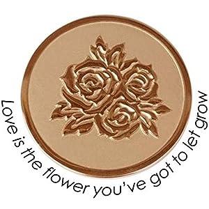 Quoins QMOZ-06L-R Münze Coins Rosen large Edelstahl rose
