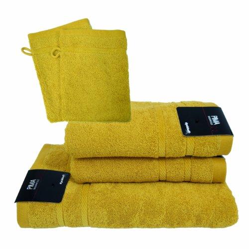 Dyckhoff 06003345306 2 Handtücher 50 x 100 cm, 1 Duschtuch 70 x 140 cm und 2 Waschhandschuhe 16 x 21 cm, 306-bambus (Pima-bambus)