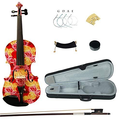 Kinglos 4/4 Fiammeggiante Colorato In Legno Massello Violino Kit Raccordi Ebano - XC1003